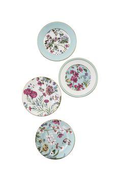Goodearth - Persia Garden Tea Plate (Set Of 4)
