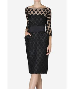 Black Spot Lace Hourglass Dress $816......never in my life would I pay this much for an article of clothing but I love this style