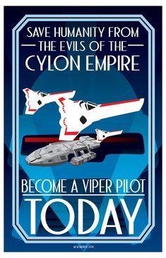 Battlestar Galactica: Colonial Recruitment Poster ~CuddleswithCats.deviantart.com