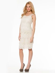 jessica simpson lace trim maternity dress would be really pretty for pictures
