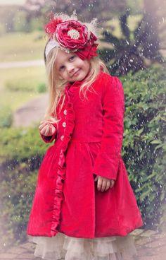 Navidad herencias abrigo de terciopelo página 2 a 12 años <BR> Ahora en Stock