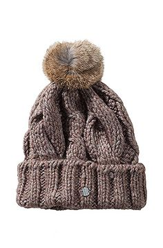 BOSS Orange - Knit cap with fur pompom 'Fosane'