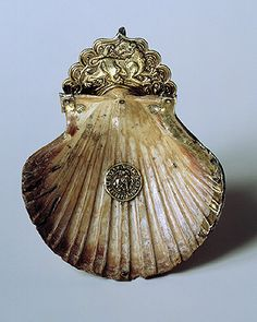 """armenianhighland: """" Drinking Vessel made from a Seashell. – century in Cilician Armenia. In the centre of the shell is a silver medallion containing a depiction of a ram and, around the edge, the Armenian inscription: """"Shakhuk, servant. Armenian History, Armenian Culture, Ancient History, Mermaid Purse, Cradle Of Civilization, Viking Jewelry, Ancient Jewelry, Antique Jewelry, 17th Century Art"""