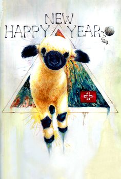 今年は未年。This year is the Year of the Sheep.