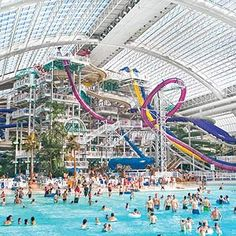 West Edmonton Mall. Built by the Ghermezian brothers between the years of 1981 and 1998, contains the world's largest indoor amusement park (including the world's largest indoor triple loop rollercoaster), the world's largest indoor wave pool, and an NHL-size ice arena. At 5.3 million square feet, the West Edmonton Mall stretches for 48 city blocks. Theme rooms in the hotel are great.