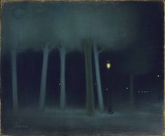 jozsef rippl ronai - Google Search Nocturne, Moonlight Painting, Gustave Courbet, Paint Photography, Rene Magritte, Tumblr, Art Graphique, Impressionist, Artwork