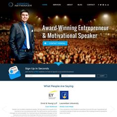 MOTIVATIONAL SPEAKER WEBSITE by ATHD