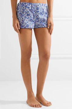 Three J NYC - Brigette Floral-print Cotton-poplin Pajama Set - Blue