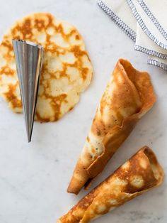 Homemade stove top sugar cones recipe, to make caramel waffles