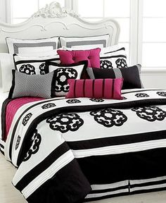 itsloopyy's save of Sabina 12 Piece Comforter Sets - Bed in a Bag - Bed & Bath - Macy's on Wanelo Dream Bedroom, Home Bedroom, Bedroom Decor, Full Comforter Sets, Bedding Sets, Plum Bedding, Pink Comforter, Bed In A Bag, Teen Girl Bedrooms