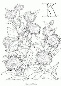 Here is another of Cicely Mary Barker& Flower Fairies for you to color. These flower fairies were first drawn by Cicely in Fairy Coloring Pages, Printable Coloring Pages, Adult Coloring Pages, Coloring Sheets, Free Coloring, Coloring Books, Images Alphabet, Cicely Mary Barker, Flower Fairies