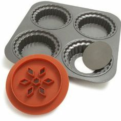 Chicago Metallic Cup Pie Set by Chicago Metallic. $35.99. 4 cavity pan. Two-sided dough cutter for perfect size bottoms and tops. Great for customizing personal size savory dinners. Non-stick, easy release. Lift & Serve feature for easy removal without ruining crusts. 4 cavity pan . Great for customizing personal size savory dinners . Lift & Serve feature for easy removal without ruining crusts. Two-sided dough cutter for perfect size bottoms and tops. Non-stick, ea...