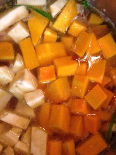 Kürbis und Sellerie Sweet Potato, Mango, Potatoes, Fruit, Vegetables, Food, Manga, Potato, Essen