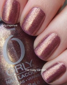 Saw this color the other day...love first sight...color is called Orly Ingenue...so want it!!