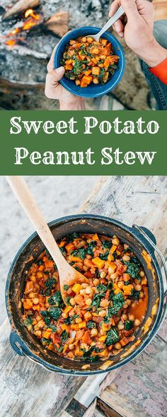 82 best vegetarian camping food images on pinterest vegetarian hearty healthy and satisfying this vegan sweet potato and peanut stew is forumfinder Images