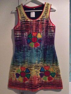 1 Kleid aus Indien Nepal Hippie Goa Stretch Einzelstueck handgemacht neu Nr. 5