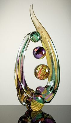 Zip, A13-19 Sculpted glass 21.5 x 10 x 3.5 inches