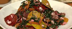 Kale Salad with Shaved Beets, Feta and Toasted Almonds Recipe   The Chew - ABC.com