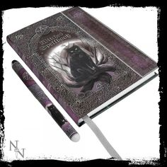 Embossed Witches Spell Book Journal and Pen Set