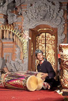 Legong musician . Bali