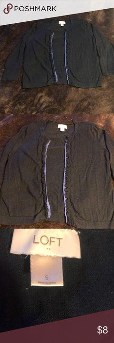 Loft cardigan Navy blue Loft cardigan,  worn only a couple times LOFT Sweaters Cardigans