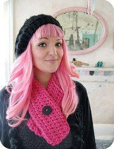 Jenny Holiday's pink hair!