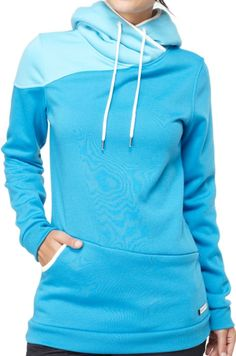 Roxy Waterfall Hoodie: Blue -This is one of the comfiest hoodies you will ever put on #roxy #snowboarding