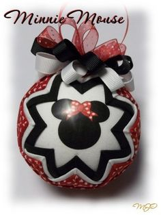 Quilted Ornament  Minnie Mouse Children's by missjoysornaments, $18.00