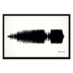 """Beautiful - 11x17 Framed Soundwave print. MercyMe inspired Soundwave print. Framed and ready-to-hang. 11"""" x 17"""" black wood frame. Limited quantity is hand-numbered by the artist. One of only 50 ever printed. American made. Singer-songwriter, Bart Millard, met keyboardist, James Bryson, through his youth group's worship band. Following a successful show in Switzerland, the pair decided to pursue music full time. They joined up with guitarist, Mike Scheuchzer, and moved to Oklahoma..."""