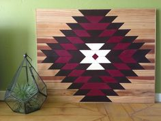 Wood Panel Wall Piece / Table Top by IfYouGiveAGirlASaw on Etsy