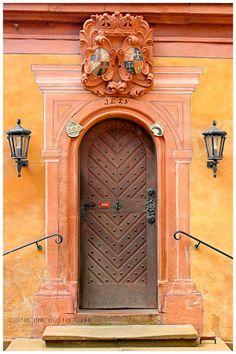 ♅ Detailed Doors to Drool Over ♅  art photographs of door knockers, hardware & portals - Mespelbrunn, Bavaria, Germany
