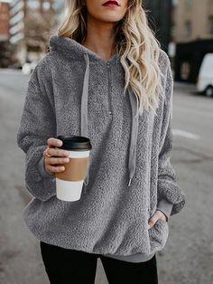 Oversized Hoodie Sweatshirts Women Pullover Hoodie Women's Sweatshirts Plus Size Zipper Casual Long Sleeve Female Sweatshirt Hoodie Sweatshirts, Pullover Hoodie, Fleece Hoodie, Hooded Sweater, Basic Hoodie, Fashion Sweatshirts, Hooded Parka, Sweatshirts Online, Coats For Women