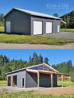 Metal Garage Buildings, Pole Buildings, Metal Garages, Backyard Buildings, Shop Buildings, Pole Barn Garage, Garage Shed, Carport Plans, Garage Plans