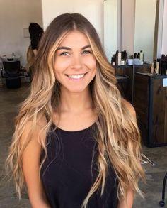 Blonde brunette Balayage long hair