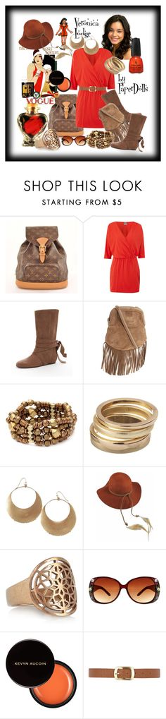 """""""Veronica Lodge"""" by paper-dolls2 ❤ liked on Polyvore featuring Louis Vuitton, Bobi, Michael Kors, See by Chloé, Vanessa Mooney, Jessica Simpson, Lovely Bird, Pamela Love, China Glaze and Kevyn Aucoin"""