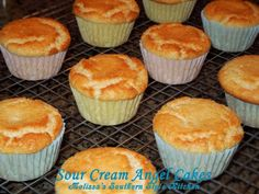 Melissa's Southern Style Kitchen: Sour Cream Angel Cakes