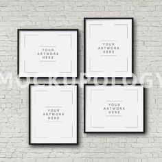 8x10 16x20 24x30 Set of Four Vertical And by Mockupology on Etsy