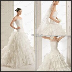Hon_esty vintage wedding gown with frills