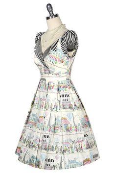La Petite Boutique Collar Dress (Print) – Kitten D'Amour