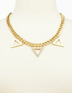 Triple Triangle Chain Necklace: Charlotte Russe