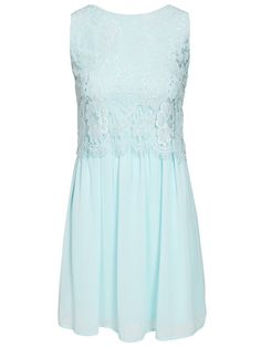 Overlay Lace Dress - Club L - Mint - Partykleider - Kleidung - Damen - Nelly.de Mode Online