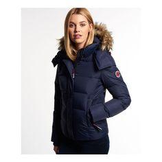 Womens microfibre fur hooded windbomber jacket