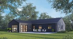 Mini Chalet, Modern Mobile Homes, Modern Lake House, House Construction Plan, Weekend House, New England Homes, Dream House Exterior, New House Plans, Scandinavian Home
