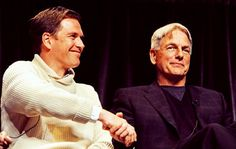 Michael Weatherly and Mark Harmon