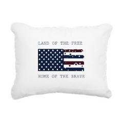 Land of the Free Rectangular Canvas Pillow