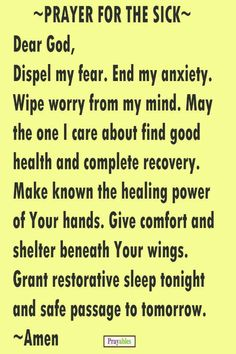 Prayer for the sick prayer pinterest sick bible and healing when you need to say a prayer for the sick choose from one of these 9 healing prayers spiritdancerdesigns Images