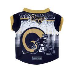 Los Angeles Rams Pet Performance Tee Shirt Size L