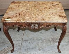 Vintage French Regence Marble Top Table | Antique End Tables | Inessa  Stewartu0027s Antiques