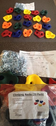 Climbing Holds 75204: Kids Rock Climbing Holds W Hardware 20 Pack Squirrel Products New -> BUY IT NOW ONLY: $34.99 on eBay!