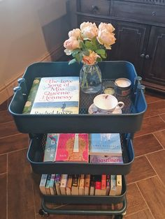 Do you know what TBR Carts are? They're going to make your life so much better, though! Bookshelf Inspiration, Room Inspiration, Ikea Cart, Dorm Shopping, Uni Room, Vanity Decor, Room Tour, Book Nooks, My New Room